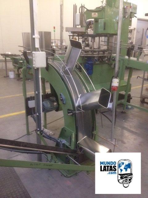 linea fabricación latas de conserva con aceite comestible