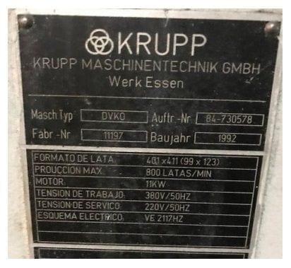 máquina combinada Krupp DVKO
