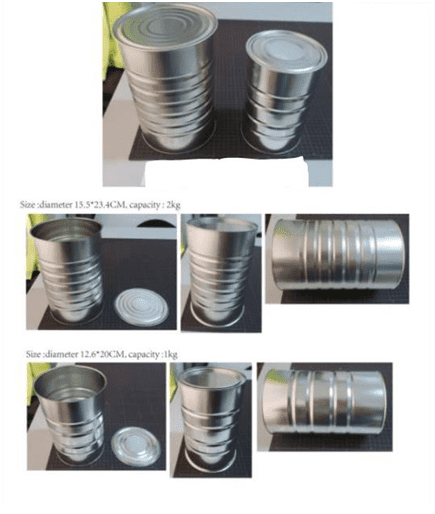 Tin cans for milk powder